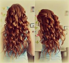 long curly ginger hair