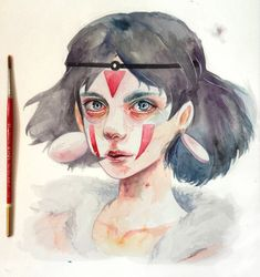 Princess Mononoke by kazel-lim.deviantart.com on @DeviantArt
