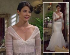 "Robin's wedding dress on HIMYM- Might have to start a ""dream wedding"" board because of this dress!"