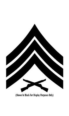 United States Marine Corps (USMC) Chevron Rank Insignia Vinyl Decal Sticker, Premium Matte & Glossy Vinyl, Many Colors to Choose from - Customize Now, Staff Sergeant SSgt, W H Military Ranks, Staff Sergeant, Marine Corps Dress Blues, Marine Corps Ranks, Evil Tattoos, Once A Marine, Wrist Tattoos For Guys, Free Stencils, Tattoo Ideas