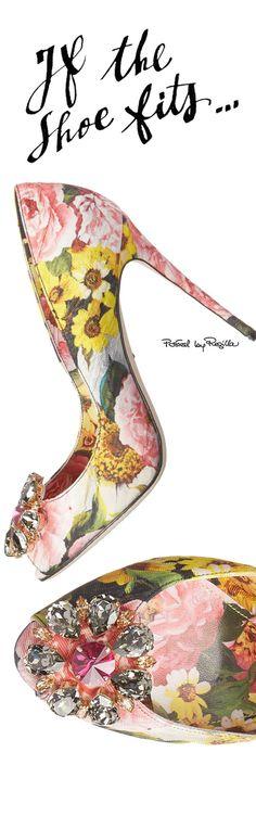 Rosamaria G Frangini   FashionShoes   ShoeAddict   Dolce & Gabbana Floral Shoes