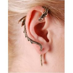 I would totally rock this dragoon earring!