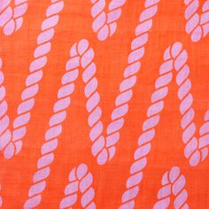 "【House Industries(中川政七商店)】/【ROPE L】・・・鈴緒の美しく撚りあわされた縄が、文字の""N""を表しているデザインです。アメリカのフォントデザイン会社であるHouse Industriesが、日本にインスピレーションを受け生み出したテキスタイル。 #japanesetextiles #textile #patterns"