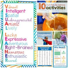 This month has been all about celebrating your visual learner. Whether you need to advocate for adaptation in the classroom or just understand what it is that makes them special, being a visual learner is an amazing gift.