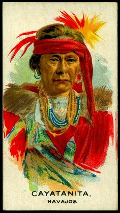 Cigarette Card - Indian Chief, Cayatanita by cigcardpix, via Flickr