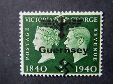 Local England WW II Occupation overprint Guernsey MLH