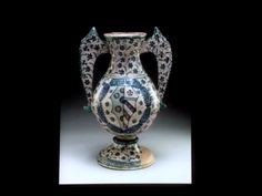 Vase with the arms of De'Medici and Orsini. probably commisioned for the wedding of Lorenzo with Clarissa.