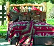Yellowstone Bedspread  Yellowstone Bedspread  The Yellowstone Bedspread is the staple piece of this collection. It features strong, horizontal, Southwestern geometrics sewn is rich red, turquoise, brown and gray. This piece will add that Southwestern flair you've been looking for. Dry cleaning preferred.