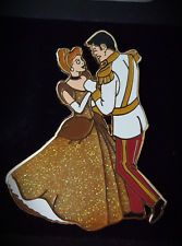 Disney Cinderella in Gold Dress Dancing with Prince Charming  LE 500 Rare Pin