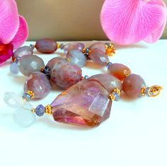 Ametrine Beaded Necklace in Gold Vermeil by AFFINITYCouture