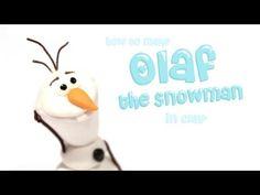 ▶ Olaf the Snowman- Polymer Clay tutorial