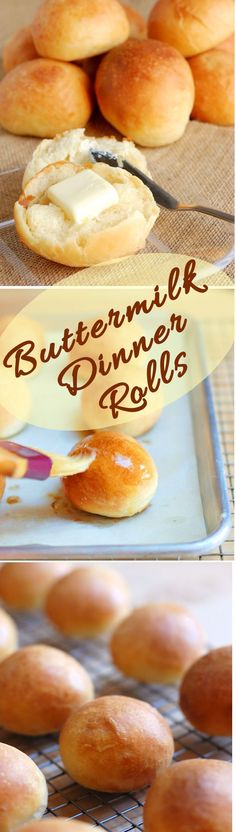 If you want to make the perfect dinner roll, look no further. Buttermilk dinner rolls are soft, buttery, light and luscious.