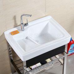 Ceramic balcony washtub with a washboard laundry tub laundry tub ...