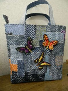 Boro Butterflies Tote
