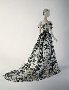"""One of Worth's gowns for Empress Eugenie. They are credited with the """"invention"""" of Haute Couture. Indeed!"""