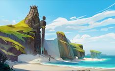 Prathamesh More's submission on The Legend of King Arthur - Environment Design Moana Background, Tropical Background, Landscape Background, Landscape Concept, Fantasy Landscape, Landscape Art, Landscape Paintings, Environment Painting, Environment Concept Art