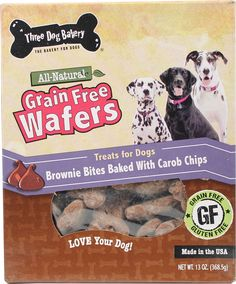 Grain Free Wafers Brownie Bites With Carob Chips
