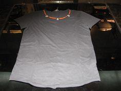 Maglietta Nera Collana Croce
