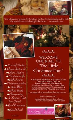 "Poster welcomes everyone to ""The Little Christmas Fair"""