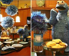 Cookie monster birthday party ideas is probably one of the best way to make your son happy. Epecially on during on the birthday. Find out how to make such party in my article here Birthday Pinata, Monster Birthday Parties, Elmo Party, 2nd Birthday, Birthday Ideas, Seasame Street Party, Sesame Street Birthday, Monster Pinata, Cookie Monster Party