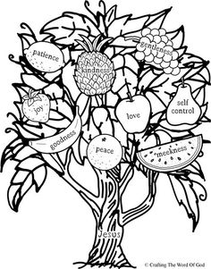 Ideas Fruit Of The Spirit Lessons For Kids Sunday School Coloring Pages Fruit Coloring Pages, Bible Coloring Pages, Coloring Sheets, Coloring Books, Idees Cate, Vine And Branches, Sunday School Coloring Pages, Bible Activities, Church Crafts