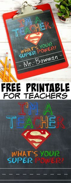 What's Your Super Power? - Teacher Gift & Free Printable