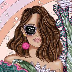Makeup Illustration, Illustration Girl, Portrait Illustration, Estilo Hipster, Artsy Background, Pop Art Drawing, Unique Mehndi Designs, Anime Pixel Art, Fashion Wall Art