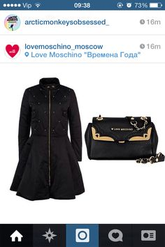moschino coat and bag