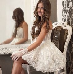 ❤❤ short wedding dress so cute and unique