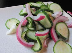 Cucumber-Zucchini Salad. Photo by under12parsecs