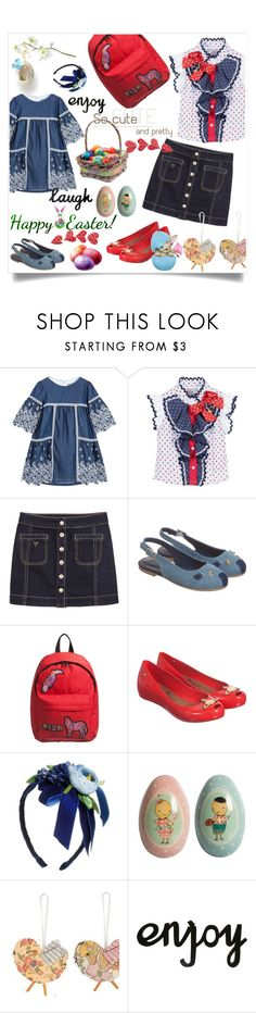 """""""My girls"""" by hani-bgd ❤ liked on Polyvore featuring Ermanno Scervino, GUESS, MSGM, David Charles, Maileg, Easter and kids"""