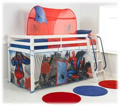 Spiderman Bed - Bing Images  sc 1 st  Pinterest & Image detail for -SPIDER-MAN Bed Canopy Childrens Bedding - review ...
