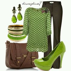 Not really into green, but this is a cool look