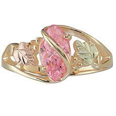 Pink Ice Black Hills Gold Ring