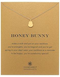Dogeared - Honey Bunny Reminder Necklace Necklace #pendant