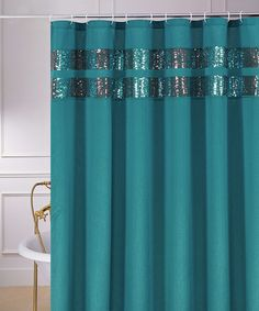 Take a look at this Blue Glenda Shower Curtain by CHD Textiles on #zulily today!