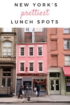 Going to New York? You must visit some of NYC's cutest restaurants and cafes for lunch or brunch!