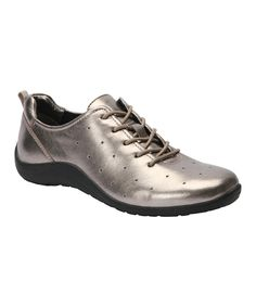 Pewter Nelly Leather Walking Shoe