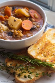 beer and barley stew c/o Hot Beans....Just the thought of it is warming me up! #vegan #recipe