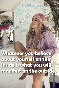 ☮ American Hippie ☮ You are what you believe you are♫♫♥♥☺♫♫♥♥♫♥JML Inspirational Quotes For Women, Inspirational Videos, Motivational Quotes, Happy Hippie, Hippie Life, Hippie Style, Quotes To Live By, Life Quotes, Qoutes