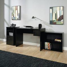 Computer Desk Bookcase & Cabinet 3 Piece Office Set Black Student Dorm HomeOffic #Mainstays