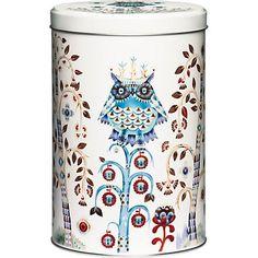 Iittala Taika Metal Tin Round Storage Box Storage Container White x cm Coffee Container, Design Bestseller, Tea Tins, White Home Decor, Tin Boxes, Metal Box, Joss And Main, Box Design, Design Shop