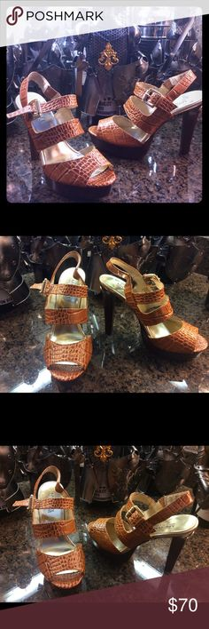 Michael Kors New without box Michael Kors high heels. Super elegant and classy. Leather uppers .  A beautiful look from my posh closet to yours.  Any questions please ask. No refund or exchanges. Michael Kors Shoes Heels