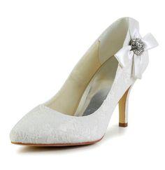 "Gorgeous Women's Wedding Shoes With Rhinestones Bow and Lace Design Color: WHITE, BEIGE, BLACK Size: 34, 35, 36, 37, 38, 39, 40, 41, 42 Category: Wedding & Events > Wedding Shoes   Gender: Women  Pumps Type: Basic  Toe Style: Closed Toe  Toe Shape: Round Toe  Shoe Width: Medium(B/M)  Heel Type: Stiletto Heel  Heel Height Range: High(3-3.99"")  Embellishment: Rhinestone  Occasion: Wedding  Upper Material: Lace   #laceweddingshoescheap #laceshoes #weddingshoes #cheapshoes #bridgat.com"