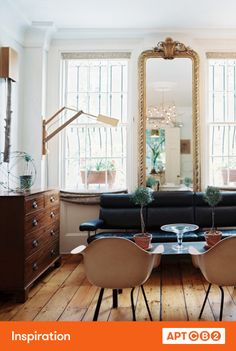 With such great windows and floors, who needs to paint this room?! #APTCB2 #inspiration