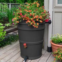 MEET ME IN THE GARDEN <3 Rain barrel planter - Rain Barrels at Hayneedle