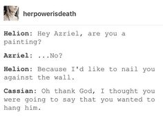 I ACTUALLY LAUGHED. IT MADE ME LAUGH AND I NEVER LAUGHED AT THESE THINGS