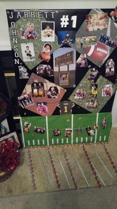 Senior Football poster.. Senior Football Gifts, Football Player Gifts, Football Homecoming, Senior Night Gifts, Football Locker Decorations, Football Themes, Football Posters, Football Girlfriend Shirts, Football Boyfriend