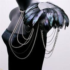 Výsledek obrázku pro feather shoulder pads