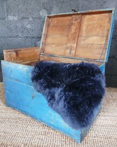These Blue Wool Rug are great for using on the floor to cosy up a bedroom or they can also be used to make a chair or kitchen bench more comfortable.